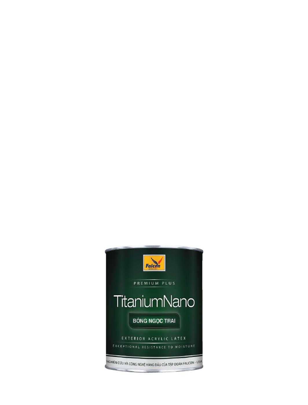 SƠN NGOẠI THẤT BÓNG NGỌC TRAI FALCON EXT TITANIUM NANO - 1L